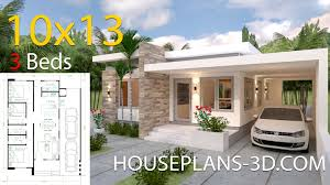 House Design House Design 10x13 With 3 Bedrooms Full Plans