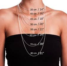 Size Necklace Chart Choosing The Right Necklace Length Necklace Lengths