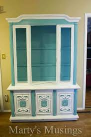 blue and white chalk painted china hutch awesome chalk paint furniture ideas