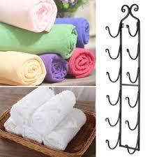 wine towel rack. Plain Rack Wondershopping Wine Bottle Rack Bath Towel Holder WallMount Home Decor  Iron Black Finish On