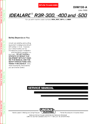 lincoln electric svm136 a idealarc cv 400 service manual wire feeder lincoln