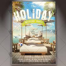 Weekend Travel Premium Flyer Psd Template