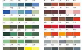 46 Expert Colour Chart Crown Emulsion