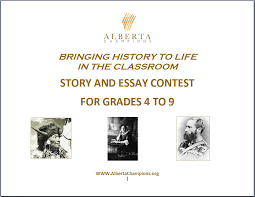 teachers ideas for our student contest alberta champions society bringing history to life story and essay contest
