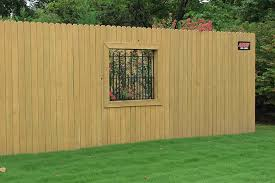 wood privacy fences. Wood Privacy Fence In Tulsa With Window Fences