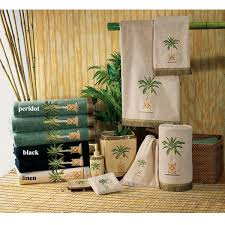 Decorative Accessories For Bathrooms Banana Palm Tree Decorative Bath Accessories by Avanti Tropical 63