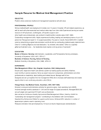 resume objective management position best sample examples
