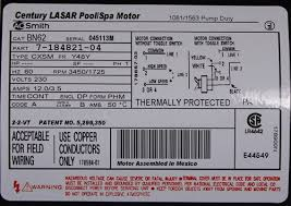waterway pump motor bn62 century by a o smith 7 184821 04 at wiring Ao Smith Motor Wiring Diagrams Single Phase waterway pump motor bn62 century by a o smith 7 184821 04 at wiring diagram