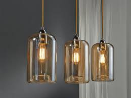 Hanglamp 5 Lichts Cilinder Glas