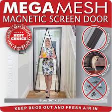 magnetic screen door heavy duty reinforced mesh mega mesh