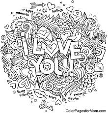 Small Picture Doodle Love You Colouring Zentangles Adult Colouring