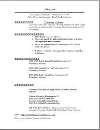 Veterinary Receptionist Resume Awesome Vet Tech Resume Objective Examples Veterinary Technician Samples