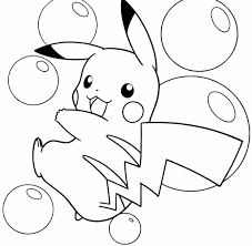 Pokemon Pikachu Coloring Pages 1