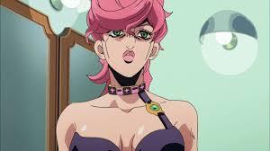 ジョジョ 9話アニメではトリッシュ初期の服装がxに変更され