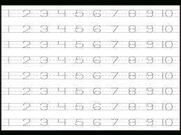 Number Tracing Worksheets | Homeschooldressage.com