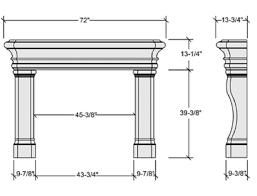 standard size of fireplace mantels ideas