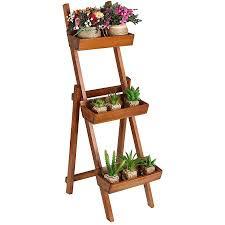 Wooden Ladder Display Stand Delectable Buy Freestanding Ladder Design Wooden Plant Rack Flower Planter