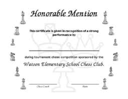 Honorable Mention Certificate Click On The Small Sample Forms Below To See Their Full Size