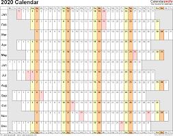 2020 Calendar Pdf 18 Free Printable Calendar Templates