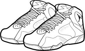 Coloring Pages Jordan Sneaker Coloring Sheets Pages Nike Shoes