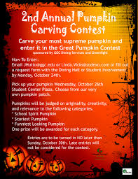 pumpkin carving contest flyer pumpkin carving rules ggc bulletin board