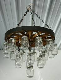 country wagon wheel chandelier 1