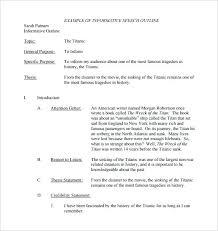 Informative Essay Outline Examples You Do Not Have To Be A Genius