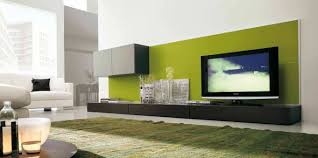 Living Room:Trendy Wall Unit Idea For Living Room With Modular Cabinets And  Long Tv