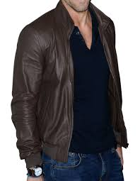 ryan reynolds leather jacket brown colored