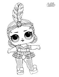 Awesome Lol Dolls Coloring Pages Sheet Lol Surprise Doll Printable