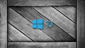 windows 10 on a gray wooden crate 4 wallpaper