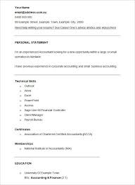 Accounting Resume Template 15 CV Template Finance Financial Accountant