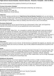 High School Teacher Resume Sales Teacher Lewesmr
