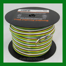 trailer light cable wiring harness 14 4 14 gauge 4 wire bonded image is loading trailer light cable wiring harness 14 4 14