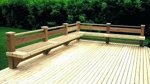 deck benches with storage plans bench designs how to build built in ideas benc built in benches on deck