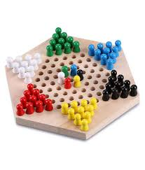Trinkets & More - Wooden Chinese Checkers Hexagon Board with Wooden Marbles  | Board Games Superb ...