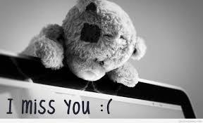 sad teddy bear miss you 1265x768