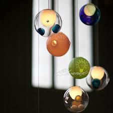 modern blown glass bubble pendant lighting