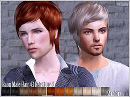 Raon 43 BUNDLE | Peinados de hombre, Pelo sims, Sims