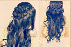 ☆CUTE CURLY HAIRSTYLES | BRAIDED HALF- UP UPDOS FOR SCHOOL WITH ...