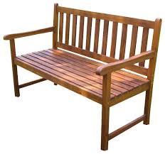 foot outdoor wooden patio bench