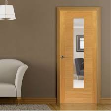 office doors with glass. Brisa Ostria Flush Oak Veneered Door With Clear Safety Glass Is Pre-finished Office Doors L