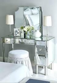 modern mirrored makeup vanity. Appealing Mirrored Makeup Vanity Table Interiorvues Attractive Desk With Mirror 11 Decorating Modern U