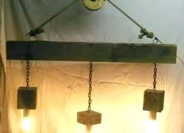 reclaimed wood lamp beam light fixture and pulley pendant lighting sliced sculptural lamps uk full size