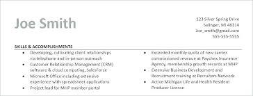 Professional Accomplishments Resume Examples Sample Accomplishments