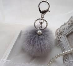 Fur Keychain Designer Fashion Design 8cm Fluffy Keychain Imitation Fur Pom Pom