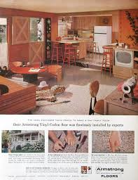 1950S Interior Design Custom 48 Armstrong Vinyl Floor Ad 48s Country Kitchen Design Family