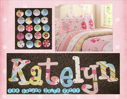 girls wall letters pottery barn kids daisy garden party