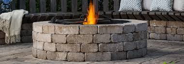 outdoor stone fire pit. Belgard Weston Stone Fire Pit Outdoor