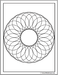 geometric shapes coloring pages wreath of circles